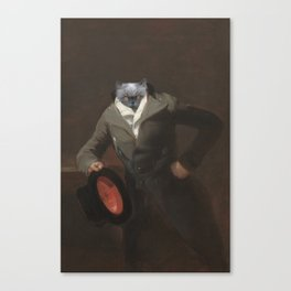 Cat with a hat Canvas Print