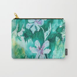Green encaustic flowers Carry-All Pouch