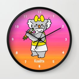 Koalita leaves sandwich Wall Clock