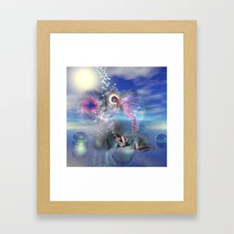 A novel can be a portal into parallel realities Framed Art Print