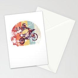 Retro Motocross gift for Biker Stationery Cards