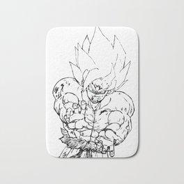 Super Saiyan Son Goku Drawing Bath Mat