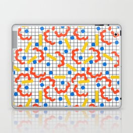 Primal - memphis throwback squiggle circle geometric grid lines dots trendy hipster 80s retro cool Laptop & iPad Skin