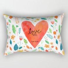 Love never fails Rectangular Pillow