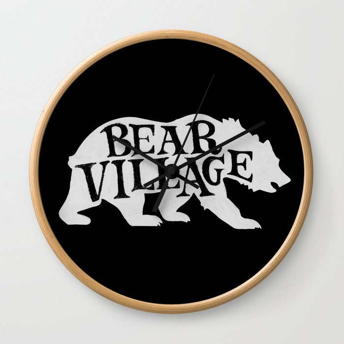 Bear Village - Polar Wall Clock