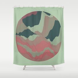 TOPOGRAPHY 008 Shower Curtain