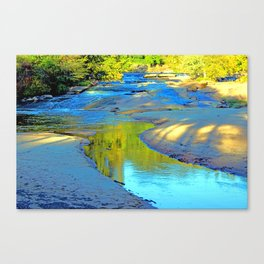 Sunset at the bar Canvas Print
