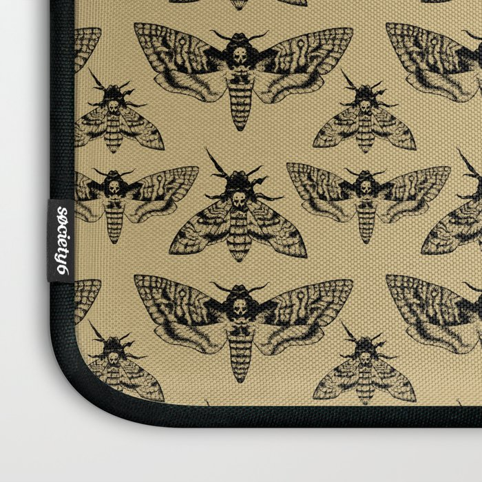 Antique Deaths Head Hawk Moth Pointillism Laptop Sleeve