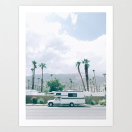 California Camper Art Print