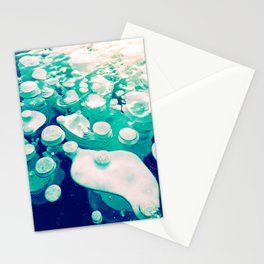 Green Fancy Bubbles Stationery Cards