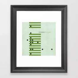 Jazz Revival Collection - Bars & Dots Framed Art Print