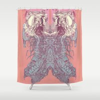 insect Shower Curtains featuring insect by Maethawee Chiraphong