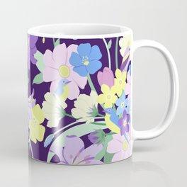 flowers_&_birds_onpurple Coffee Mug