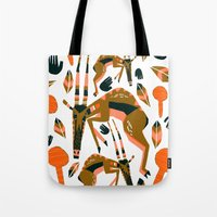 africa Tote Bags featuring Africa by Marijke Buurlage