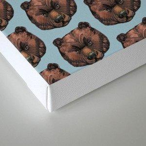 simple bear pattern Canvas Print