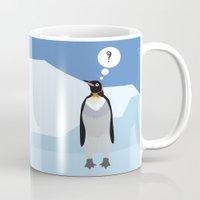 penguin Mugs featuring Penguin by Nir P