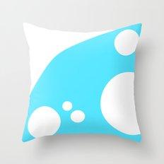 Arbitrary Orbit III - Cyan Throw Pillow