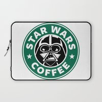starwars Laptop Sleeves featuring StarWars Coffee by Unicity