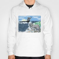otters Hoodies featuring Otters Love by Gaby Kasan