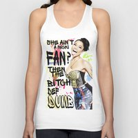 nicki Tank Tops featuring She ain't a Nicki fan? by Society Apparel
