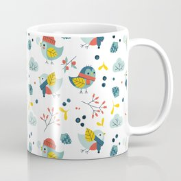 winter birds pattern Coffee Mug