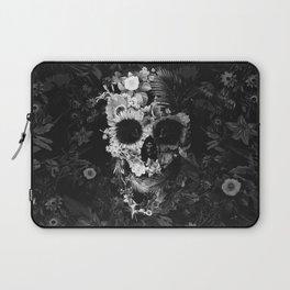 Garden Skull Dark B&W Laptop Sleeve