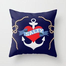 Old Salt Sailor Heart Throw Pillow