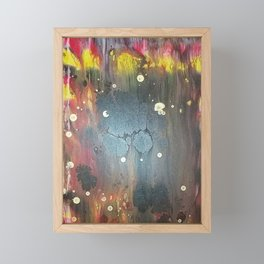 Abstract Flames Framed Mini Art Print