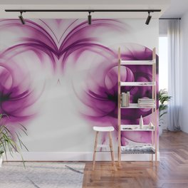 abstract fractals mirrored reacdei Wall Mural