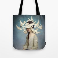 victorian Tote Bags featuring The Beginning by Christian Schloe