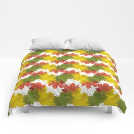 Leaves and Colors Comforters
