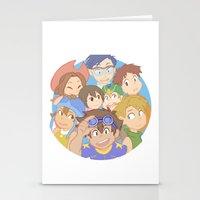 digimon Stationery Cards featuring Chosen Children by wattleseeds