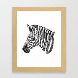Complex Zebra Framed Art Print