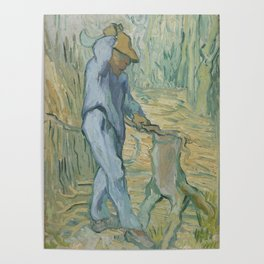 The Woodcutter (after Millet) Poster