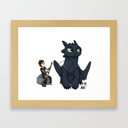 Hungry Toothless Framed Art Print