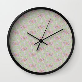 Soft Vintage Floral Tapestry Wall Clock