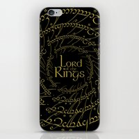 lord of the rings iPhone & iPod Skins featuring The Lord Of The Rings by Janismarika