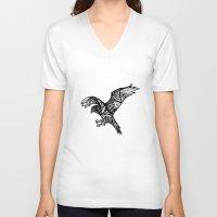 hawk V-neck T-shirts featuring Hawk by Cody Barry