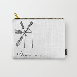 mill on white background Carry-All Pouch