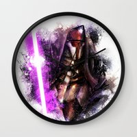 darth Wall Clocks featuring Darth Revan by Vincent Vernacatola
