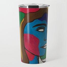 White collar Travel Mug