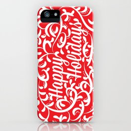 Holiday Swirl iPhone Case