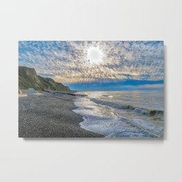 Sheringhman Beach Dusk Metal Print