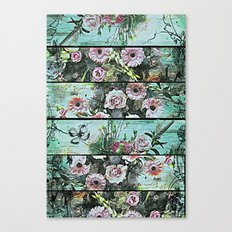 Romantic Rococo wood panel Canvas Print