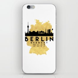 BERLIN GERMANY SILHOUETTE SKYLINE MAP ART iPhone Skin