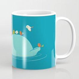 Floating Hippo Coffee Mug