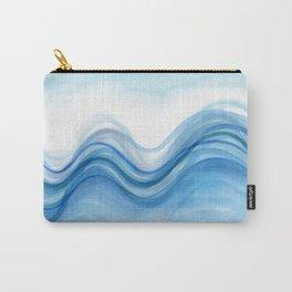 Transparent blue wave Carry-All Pouch
