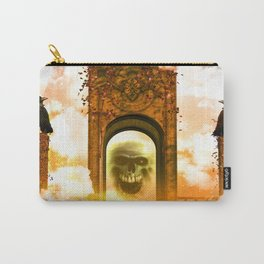 Skull and crows Carry-All Pouch