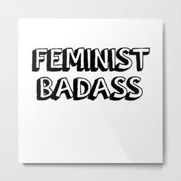 We Are Feminist Metal Print