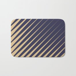 Diagonal Stripes Purple Peach Bath Mat